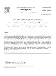pdf the ideal romantic partner personality