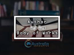 Sonja Stone Body of Works – Oeuvre - Australia Unwrapped