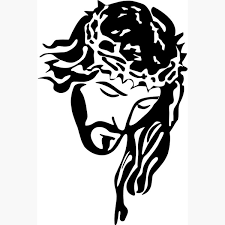 Creative Jesus Christ Portrait With Crown Decals Espejos Pared Lord God Bible Posters Religious Christian Wall Stickers Wish