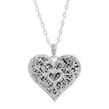 double heart filigree pendant