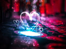 صور رومانسية للعشاق Neon Love Hearts 4k Wallpaper حب وغرام