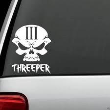 For Skull 3 Percent Threeper Decal Sticker Car Truck Suv Van Atv Punisher Art Car Styling Car Stickers Aliexpress