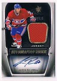 2011-12 Upper Deck Spx Autographed Rookie Jersey Aaron Palushaj #186 on  Kronozio