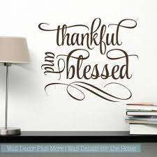 Kitchen Quotes Wall Art Thankful And Blessed Home Decor Wall Stickers