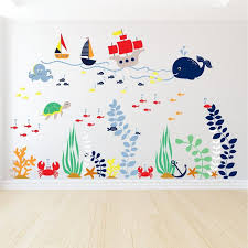Adventures Under The Sea Wall Decal Nautical Boat Wall Etsy