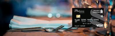 platinum rewards credit card standard