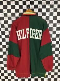 tommy hilfiger stripes polo rugby shirt
