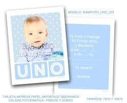 Invitacion Diseno Moderno Con Foto Infantil La Mejor 400