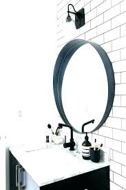 bathroom mirror round light lighting