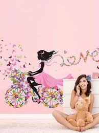 Floral Girl Wall Decal Shein Usa