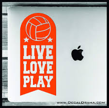 Live Love Play Volleyball Vinyl Car Laptop Decal Decal Drama