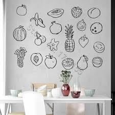 Yoyoyu Wall Decal Hand Drawn Fruits Art Design Fruits Clip Wall Stickers Kitchen Vinyl Wall Decal Apple Pineapple Fruits Zw463 Wall Stickers Aliexpress