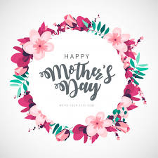 Modern happy mother's day floral background | Free Vector