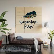 Wingardium Leviosa Wood Wall Art By Literarylifestylecompany Society6