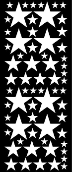 White Star Wall Decal Star Wall Sticker Whimsidecals