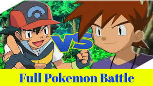 Ash vs Gary Full Pokemon Battle in hindi |