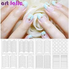 nails stencil tips french swirls guide