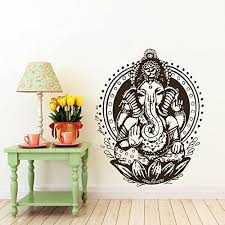 Amazon Com Ganesh Ganesha Elephant Lord Of Success Hindu Hand God Buddha Indian Design Wall Vinyl Decal Art Sticker Home Modern Stylish Interior Decor For Any Room Smooth And Flat Surfaces Housewares Murals