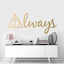 Harry Potter Deathly Hallows Symbol Always Wall Art Sticker Kids Room Decor Removable Vinyl Decal Amazon Co Uk Diy Tools