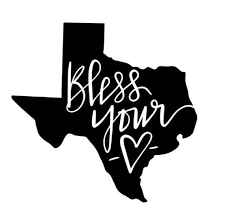 Texas Bless Your Heart Bless Your Heart Decal Texas Decal Etsy In 2020 Decals For Yeti Cups Heart Decals Texas Stickers