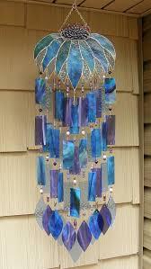 beautiful landscape glass wind chimes