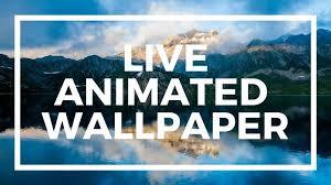 set live wallpaper background