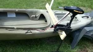 mount a trolling motor on a kayak