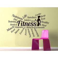 Shop Sports Gym Words Motivational Fitness Health Fitness Club Sport Workout Poster Sticker Decal Size 22x26 Color Brown Overstock 14252742