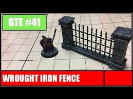 Gte 041 Wrought Iron Fence Youtube