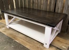 rustic x coffee table with industrial