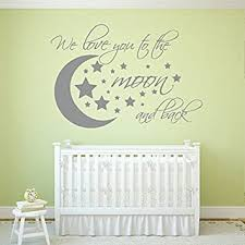 Amazon Com We Love You To The Moon And Back Wall Decal I Love U To The Moon And Back Nursery Wall Decals I Love You To The Moon And Back Baby Room