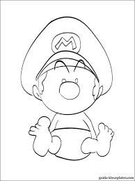 Baby Mario Van Mario Kleurplaten Gratis Kleurplaten