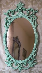 large vintage french oval wall mirror