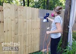 How To Stain A Fence The Easy Way Prodigal Pieces