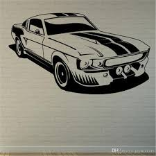 Muscle Car Wall Art Sticker Decal Quote Decals Living Room Home Decoration Art Decor Mural Wall To Wall Stickers Wall Transfer Quotes From Joystickers 12 57 Dhgate Com