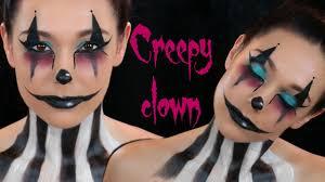 creepy clown face paint halloween
