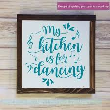 Kitchen Wall Decals Kitchen Is For Dancing Vinyl Lettering Stickers