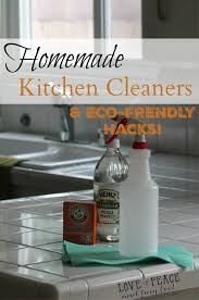 eco friendly homemade kitchen cleaners