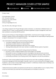 project manager cover letter exle