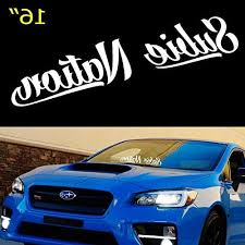 Subaru Windshield Vinyl Decal Sticker Window Decal Graphic Impreza Sti Wrx Jdm