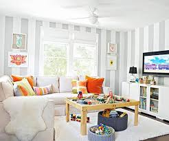 Before After Living Rooms Contemporary Designs Living Room Playroom Family Friendly Living Room Kid Friendly Living Room