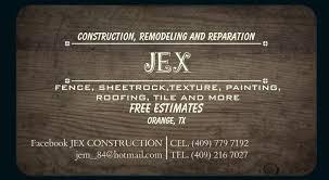 Jex Construction Posts Facebook