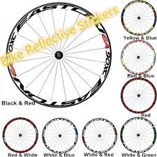 1 Side Bike Bicycle Wheel Rims Reflective Stickers Bike Accessories Mountain Bike Decor Cycling Safety Wheel Sticker Reflective Rim Stripe Tape Bicycle Decals Wish