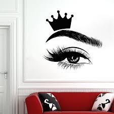Eyelash Wall Decals Eyelashes Window Vinyl Sticker Beauty Salon Woman Lashes Eyebrows Brows Art Interior Decor Crown Mural S895 Leather Bag