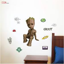 Amazon Com Marvel Guardians Of The Galaxy Groot Wall Decal With 3d Augmented Reality Interaction Marvel Room Decor Marvel Wall Decals Kitchen Dining