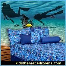 Underwater Theme Bedroom Ideas Underwater Decor Under Water Ocean Kids Rooms Sea Life Murals Undersea Theme Decor Sea Theme Bedrooms Scuba Divers Mermaids Ocean Bedroom Design Ideas