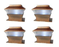 Outdoor Solar Powered Deck Fence Post Cap Lights For 4x4 Wood Post 4 Pack Walmart Com Walmart Com