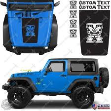 Hood Blackout Tiki Custom Vinyl Decals Stickers Kit Fits Jeep Wrangle Roe Graphics And Apparel