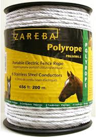 Amazon Com Zareba Pr656w6 Z Polyrope 200 Meter 6 Conductor Portable Electric Fence Rope Agricultural Fencing Garden Outdoor