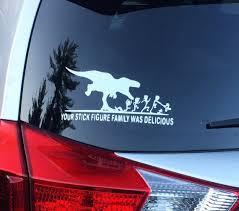 Dinosaur Stick Family Decal Etsy